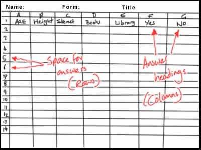 Spreadsheet Design